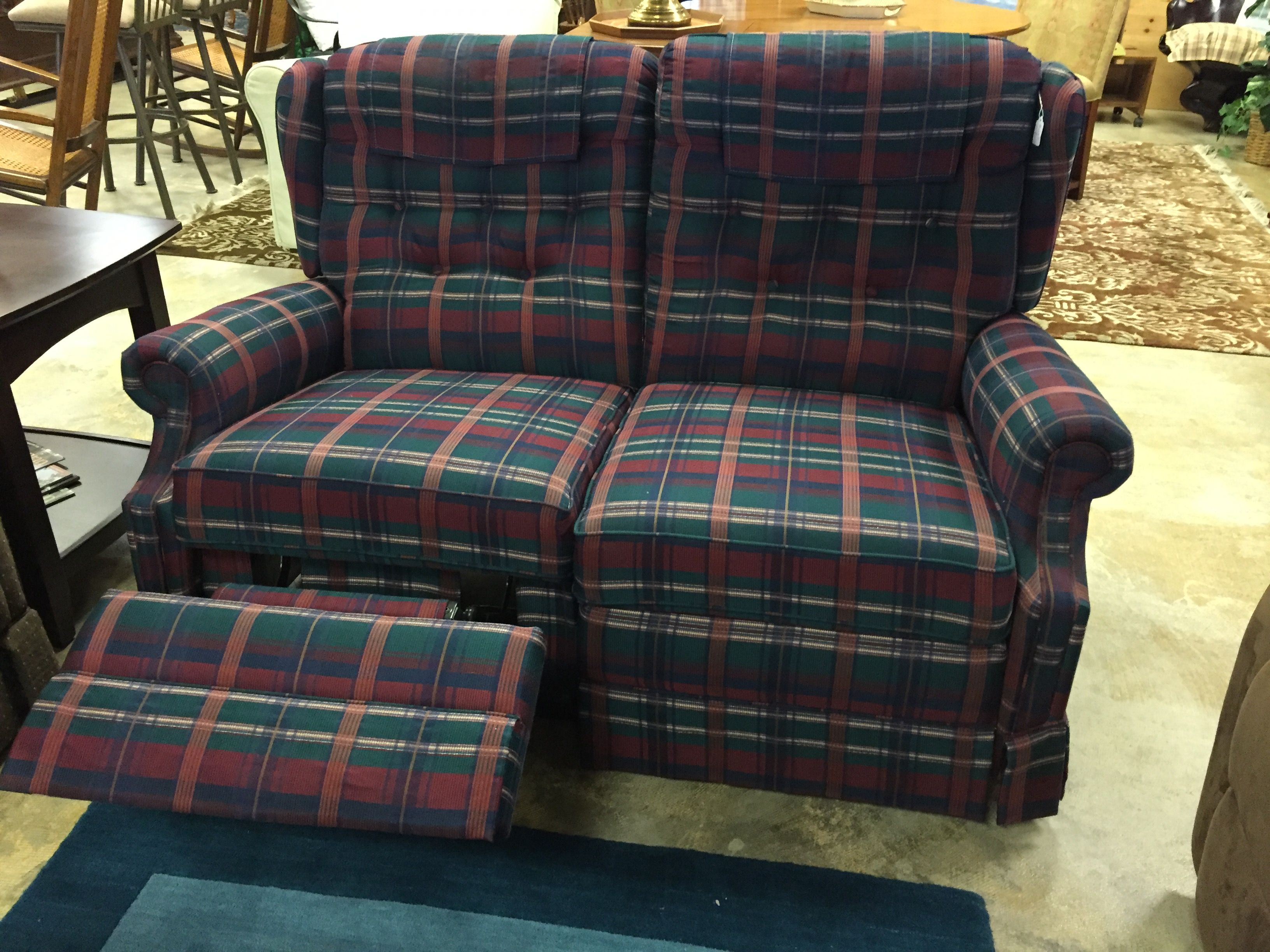 Plaid Lazy Boy loveseat $195 forsale mk consignment loveseat