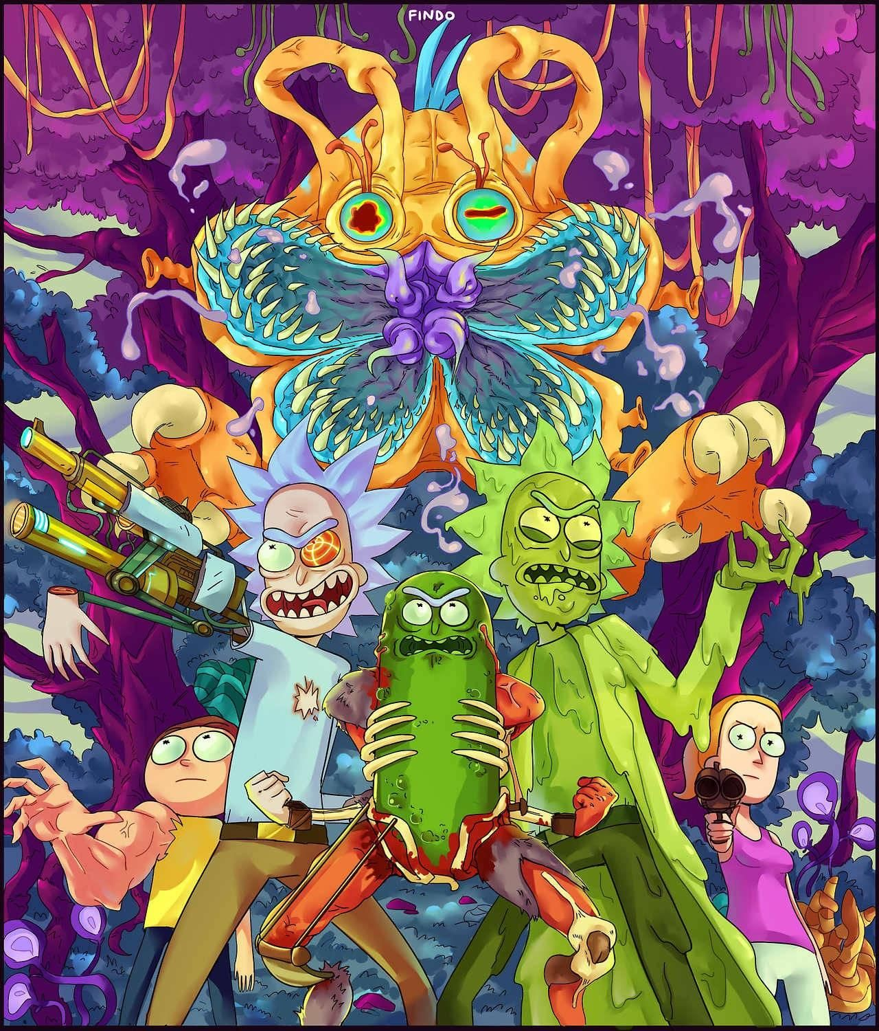 Pickle Rick Holding It Down Rickandmorty Rick Picklerick Morty Wubbalubbadubdub Getschwif Rick And Morty Poster Rick And Morty Drawing Cartoon Wallpaper