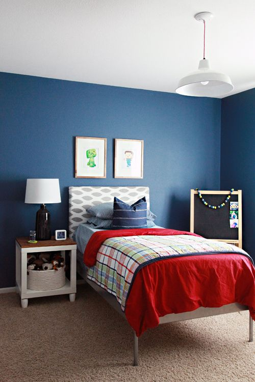 Seaing Deep Blue in our Boy's Bedroom