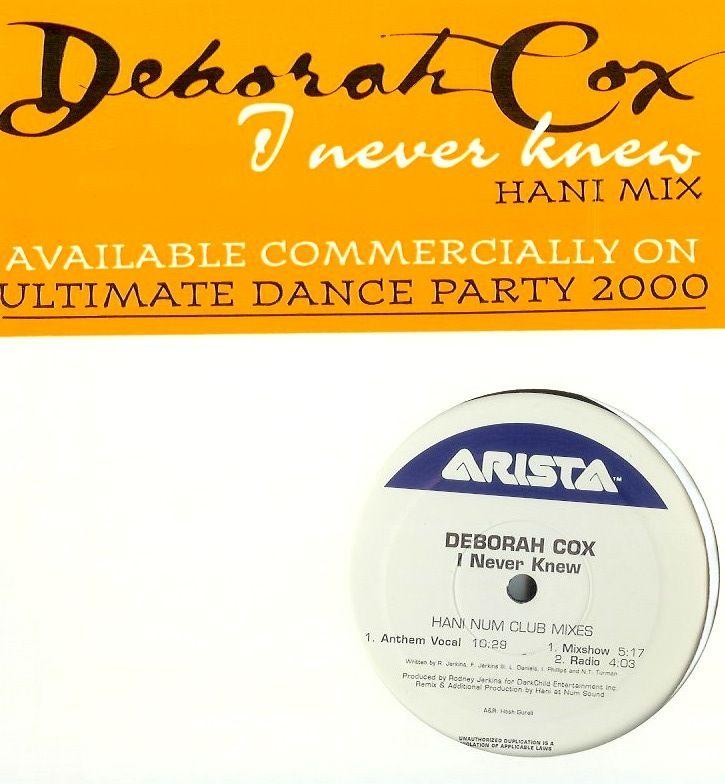 Deborah Cox – I Never Knew (single cover art)