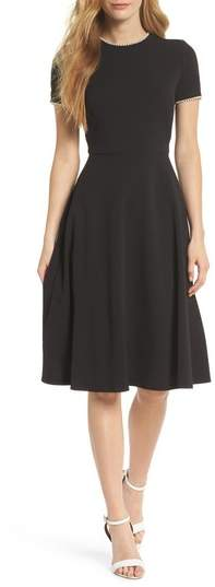 1dc08bc69da6 Gal Meets Glam Victoria Pearly Trim Fit   Flare Cocktail Dress ...