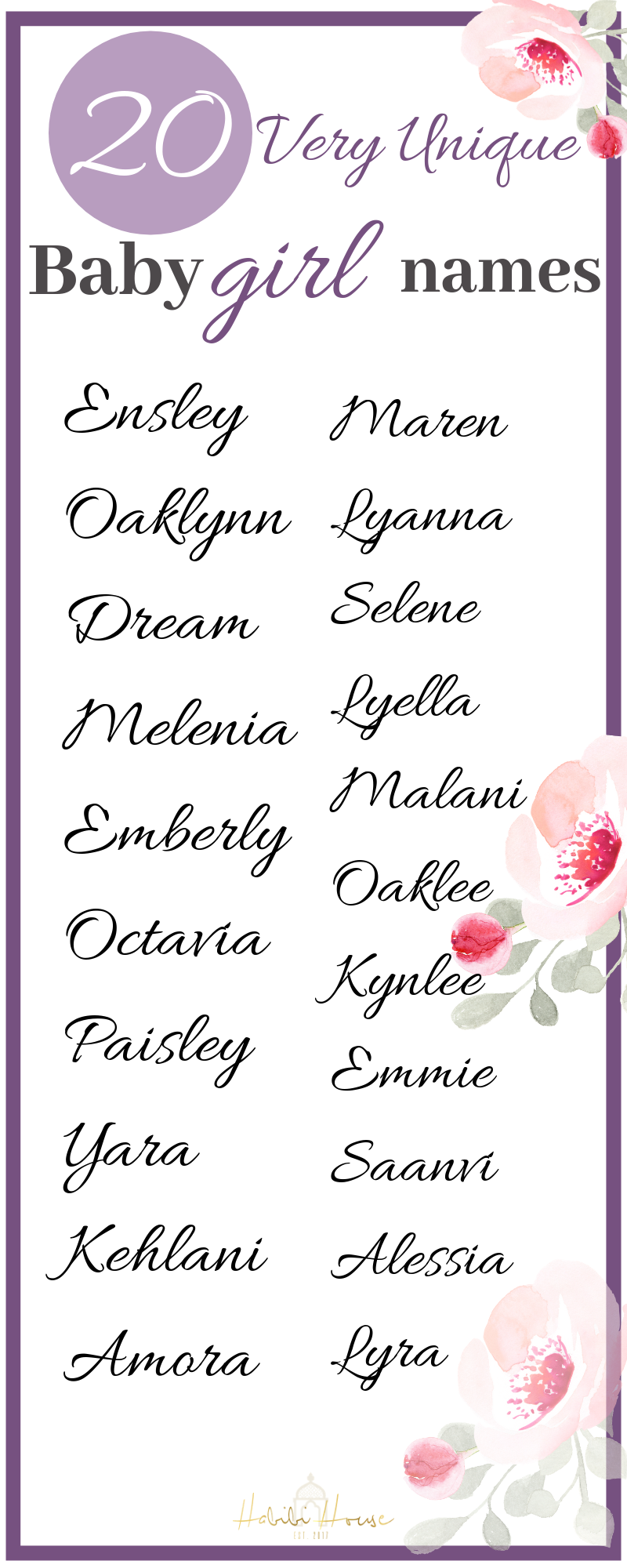 Very Unique Baby Girl Names