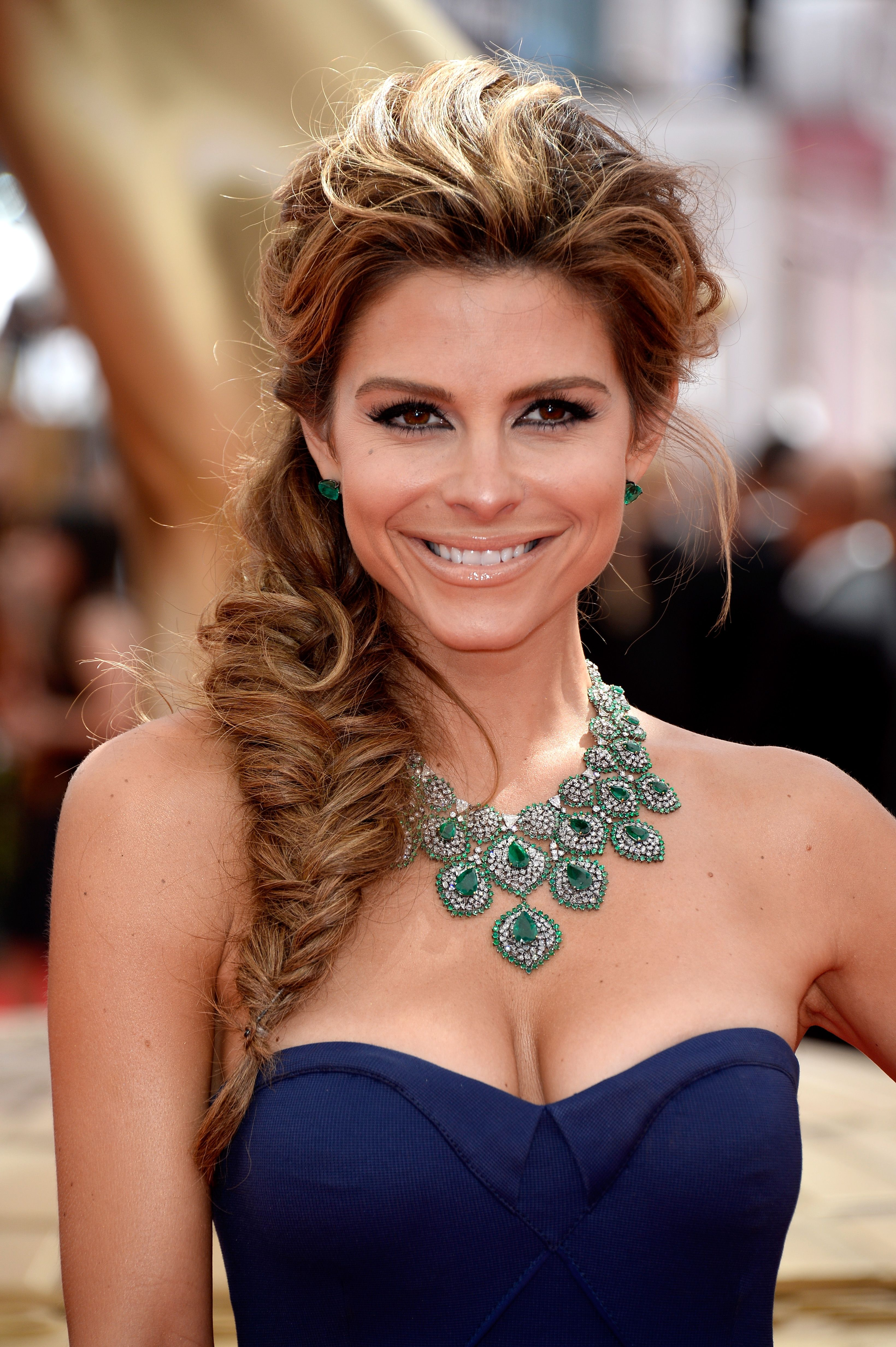 more pics of maria menounos long braided hairstyle | lady