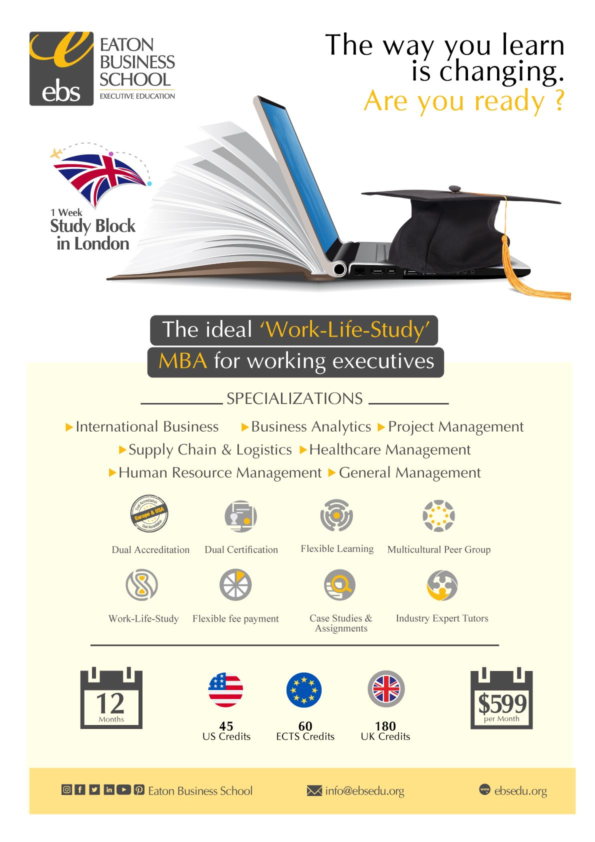 Online or Part-time Executive MBA Programs in Dubai, Sharjah