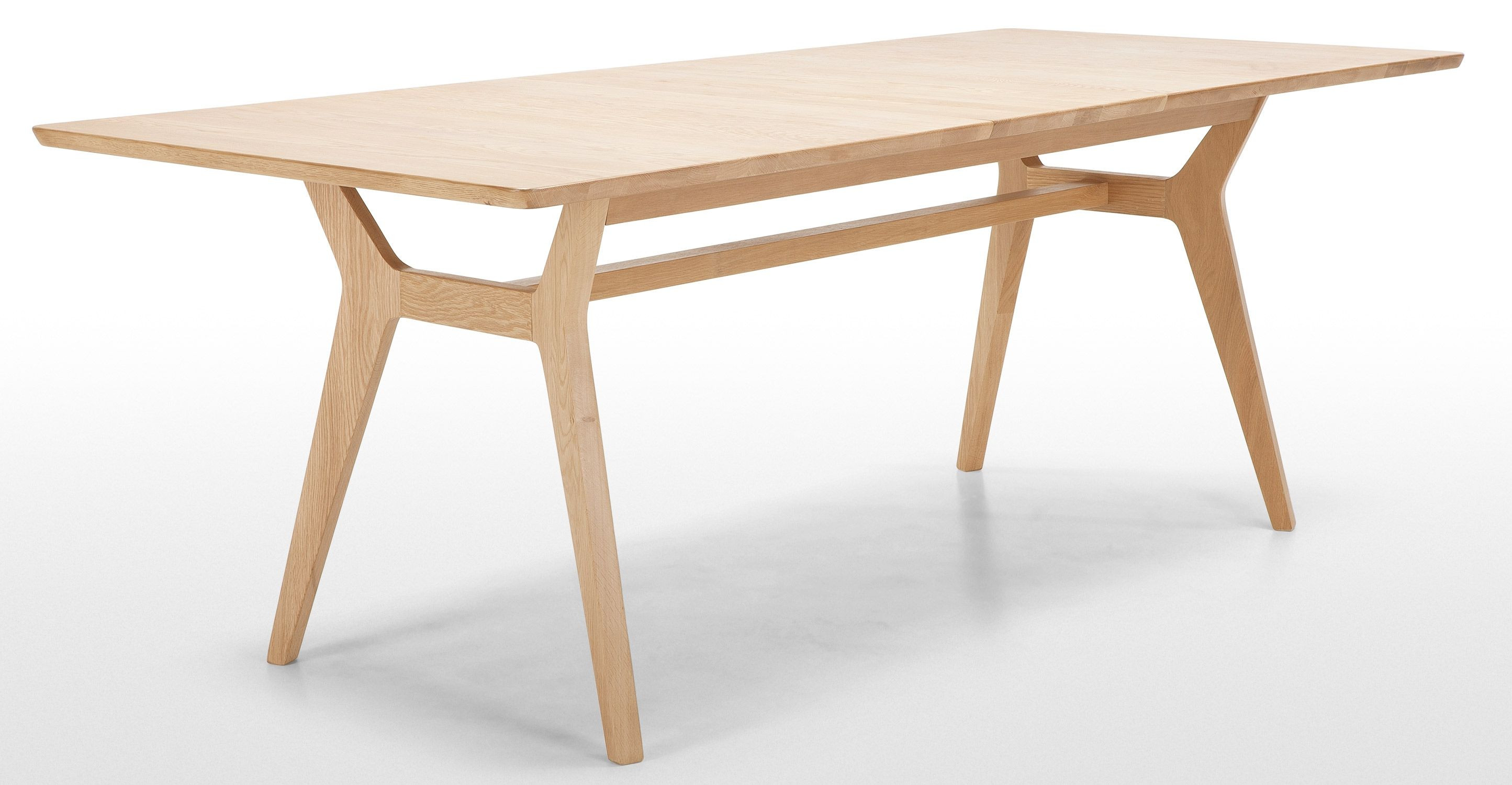 jenson extending dining table solid oak madecom