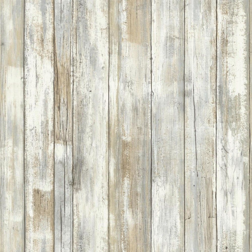 Distressed Wood Peel And Stick Wallpaper Tan Roommates