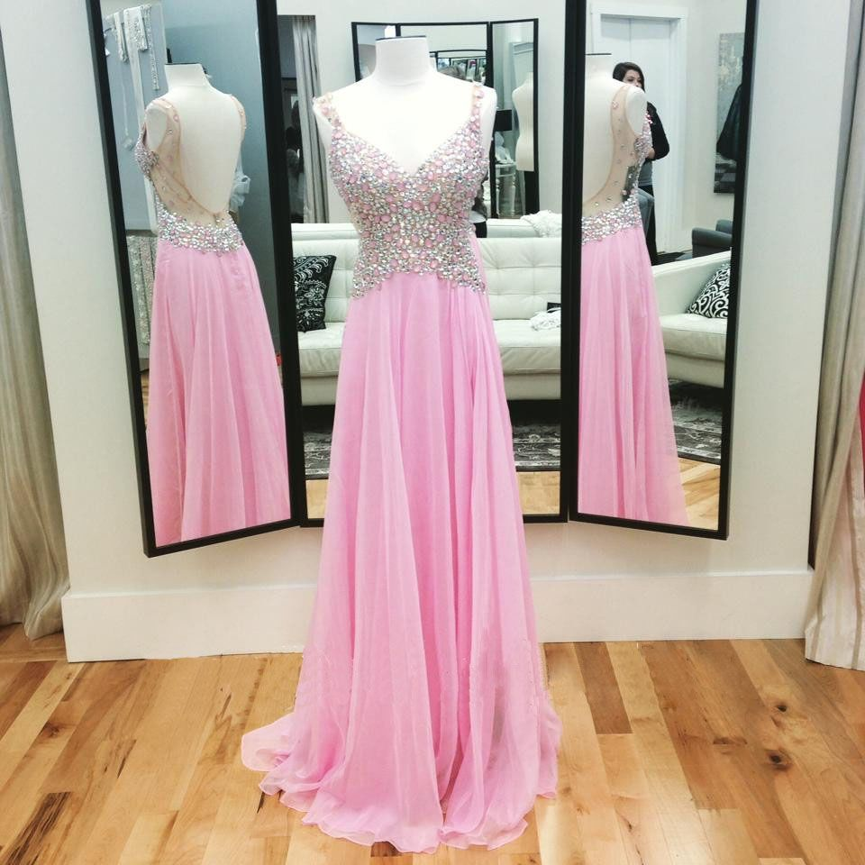 New arrival chiffon prom dressessequins floorlength prom dresses