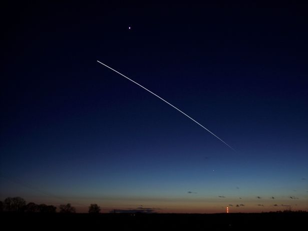 The ISS from earth