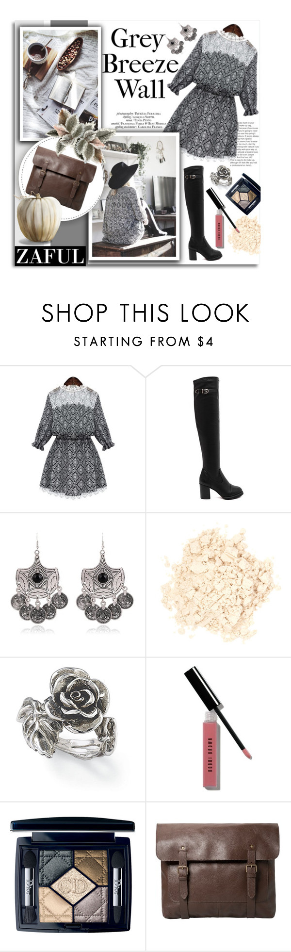"""Zaful 60"" by melissa-de-souza ❤ liked on Polyvore featuring Laura Mercier, Bobbi Brown Cosmetics, Christian Dior, MANGO and zaful"