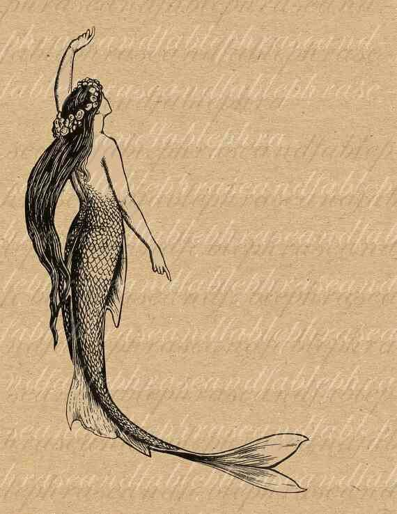 The best wave of your life is still out there Ocean  Mermaid Vintage Sea Print
