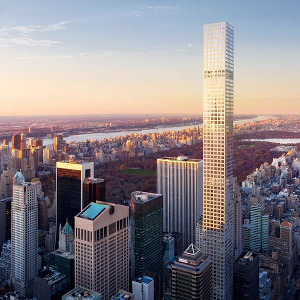 Simple and elegant (and taller than the Empire State Building): the newly constructed 432 Park Avenue, New York.