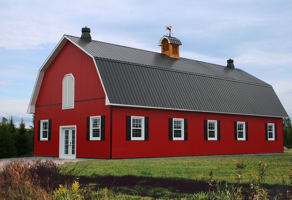 Metal roofing and metal cladding for agricultural farm for Gambrel roof metal building