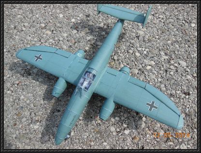 WWII Heinkel He 280 Fighter Ver.2 Free Aircraft Paper Model Download - http://www.papercraftsquare.com/wwii-heinkel-he-280-fighter-v2-free-aircraft-paper-model-download.html