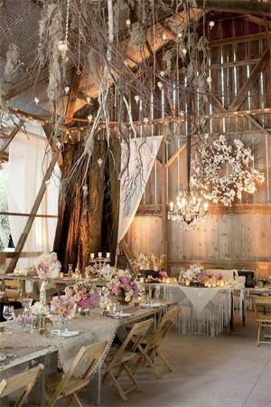 Winter bohemian inspired wedding styling brides of adelaide romantic and elegant nuance of barn wedding decorations junglespirit Images