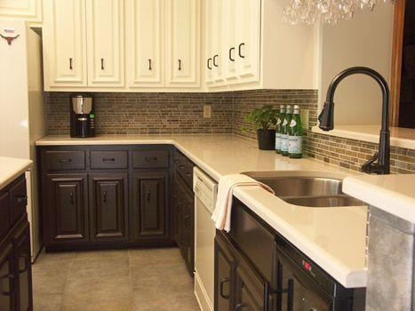 Galley Kitchen Ideas Small Kitchen Two Tone Kitchen Cabinets