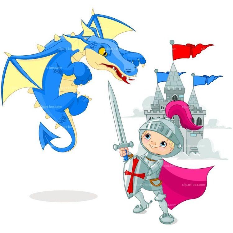 Рыцарь и дракон в картинках для детей