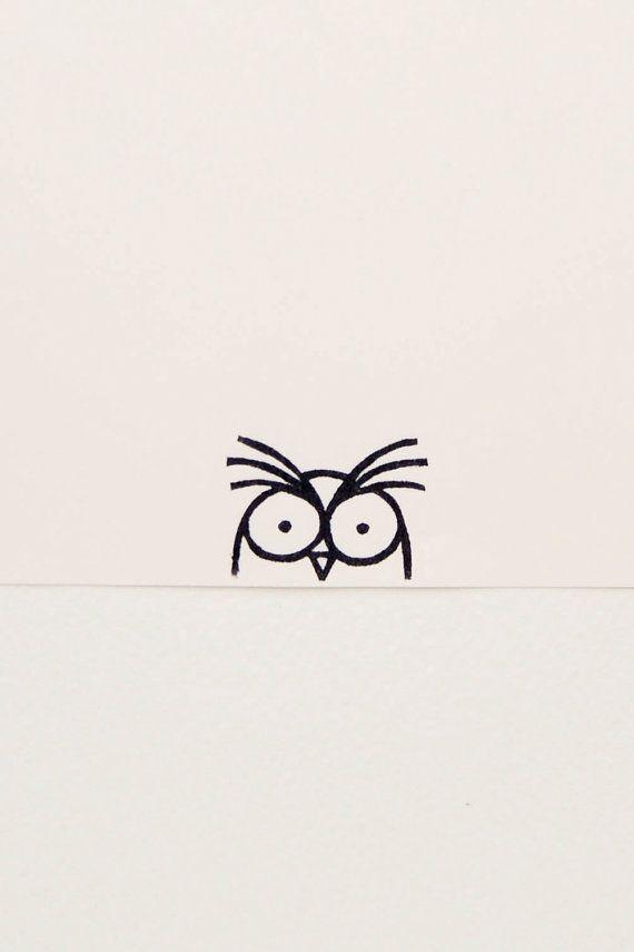 Eulenstempel, Vogelstempel, Mitarbeitergeschenk, lustige Eule, Peekaboo-Stempel, einfache Eul...