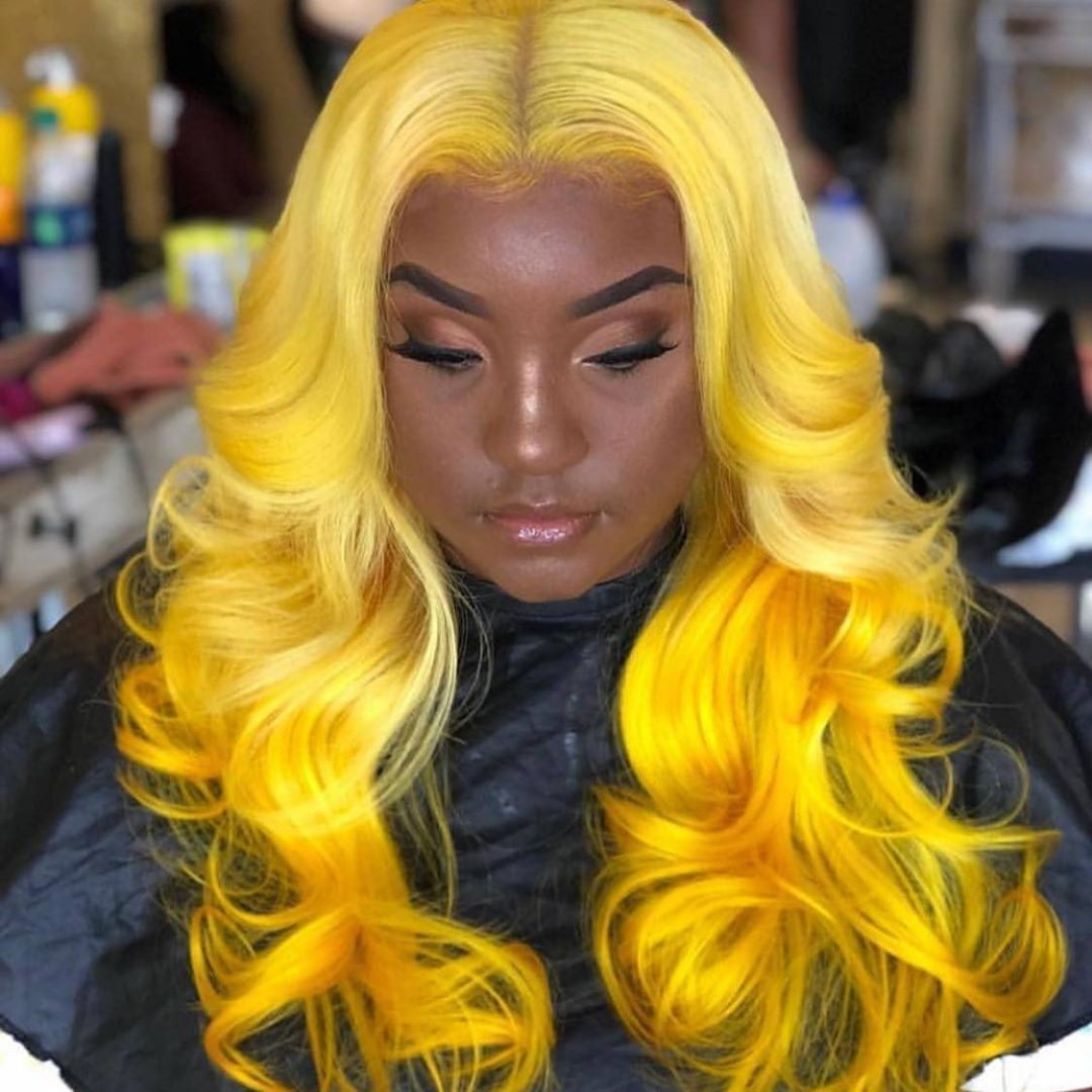 "LACE FRONT WIGS on Instagram: ""Mellow Yellow"