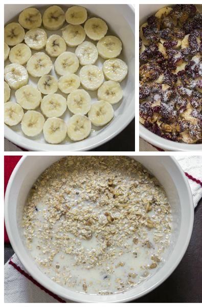 Cranberry Banana Oatmeal Bake... Delicious!