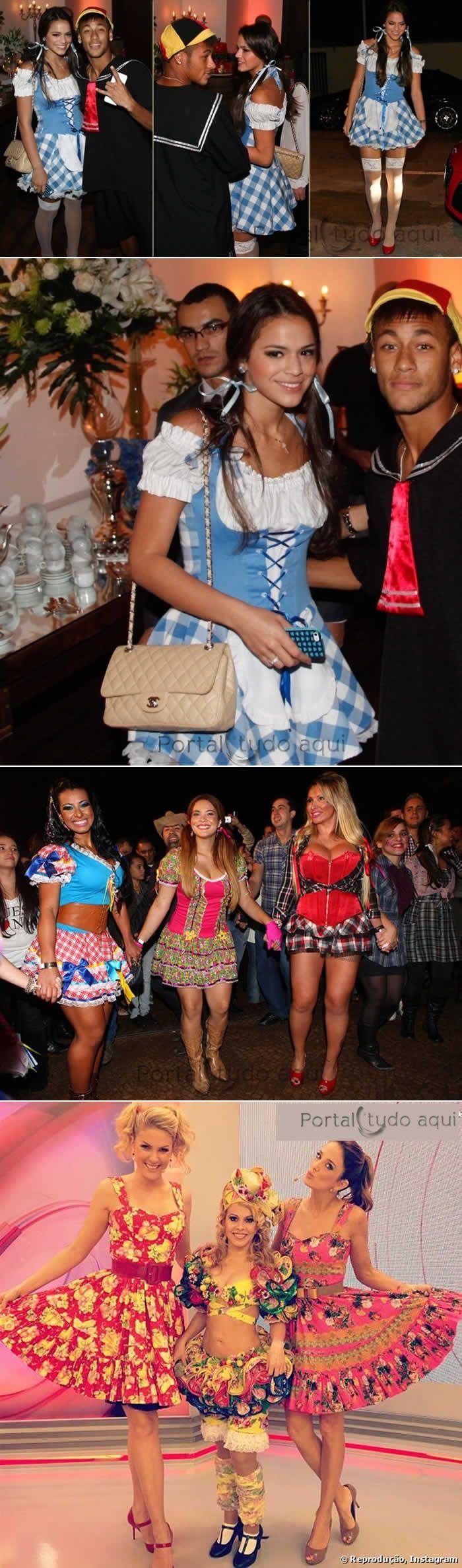 37047a199 Idéias de trajes para festa junina  Roupas de caipira das famosas -Portal  Tudo Aqui