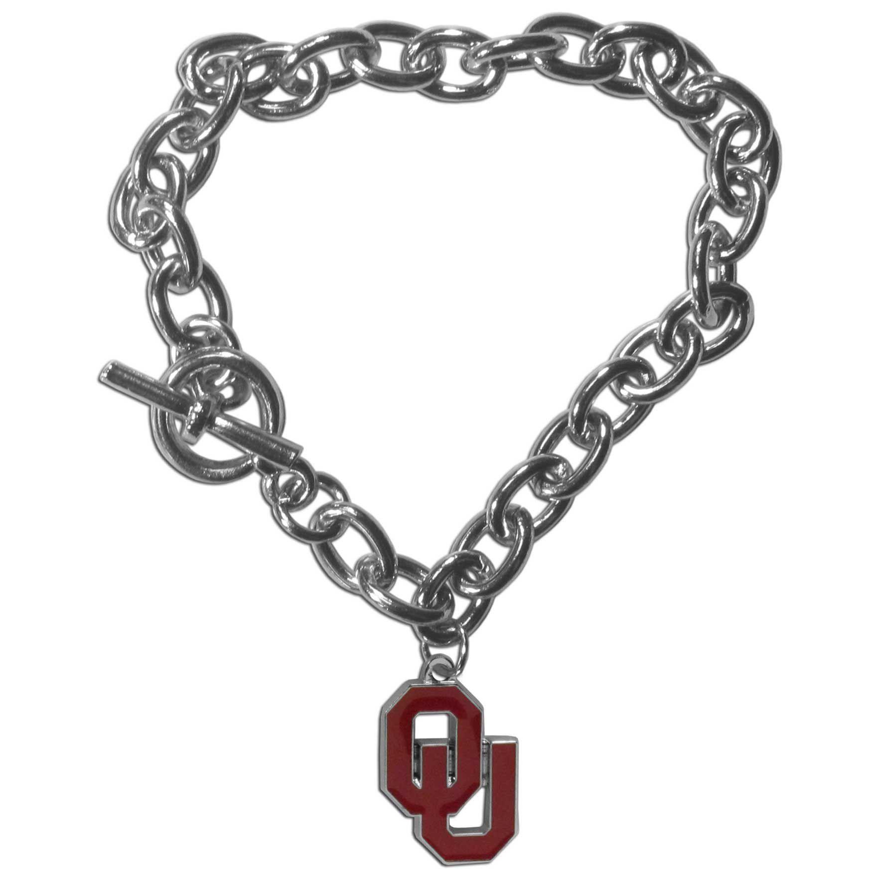 Oklahoma Sooners Charm Chain Bracelet