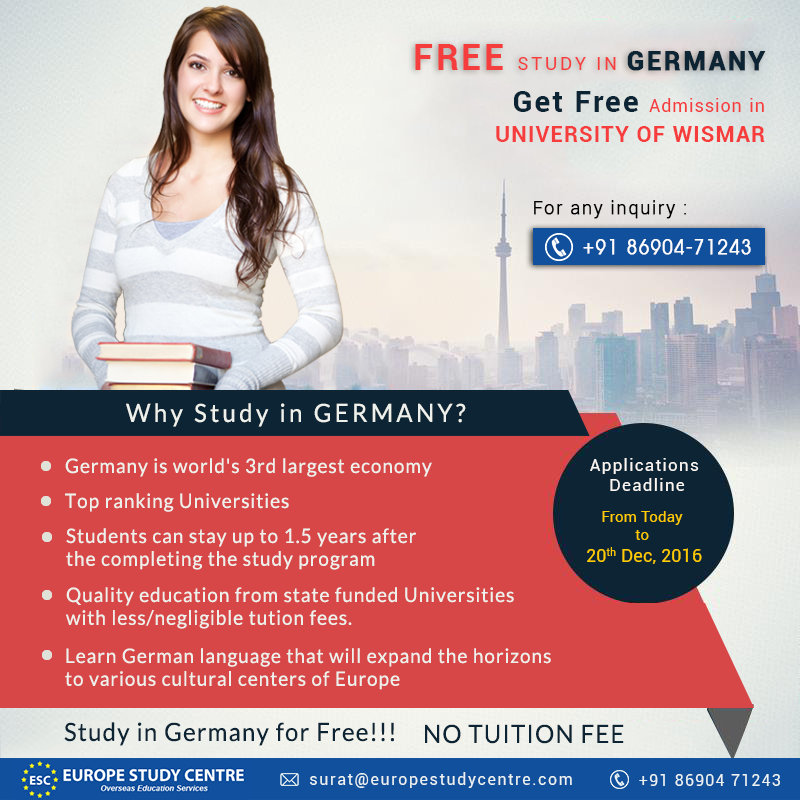 Study in Germany for Free!!! NO TUITION FEE Students pay