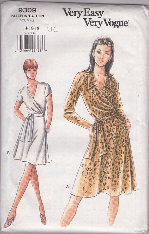 MOMSPatterns Vintage Sewing Patterns - Vogue 9309 Retro 90\'s Sewing ...