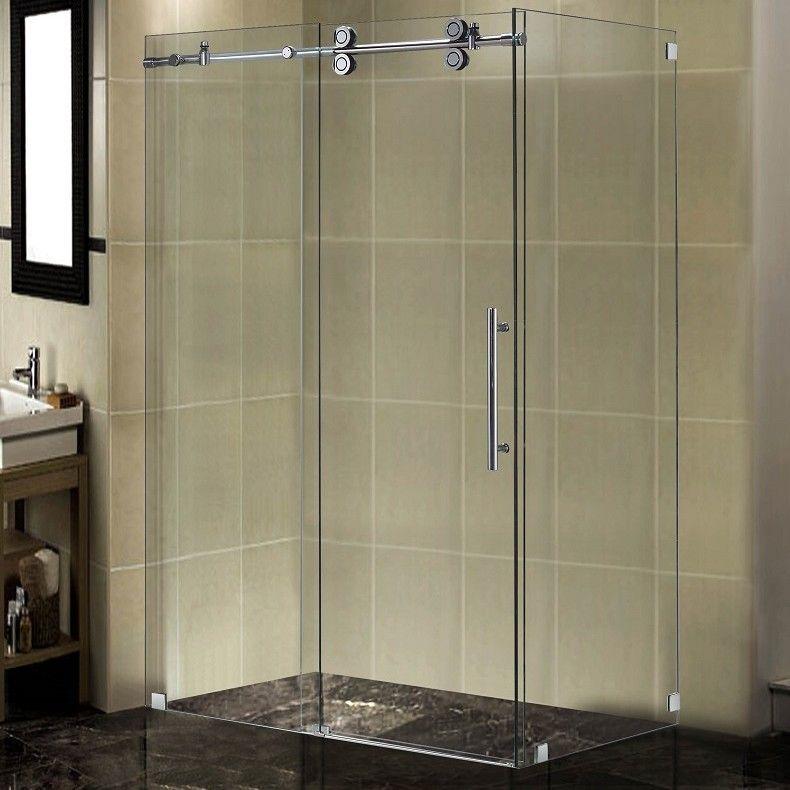 Langham 48 X 75 Rectangle Sliding Shower Door Sliding Shower