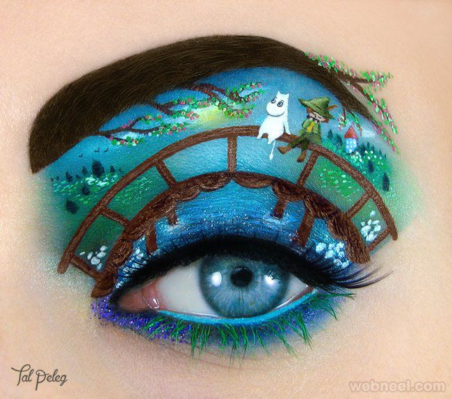 20 beautiful and creative eye makeup ideas and art works for Beautiful creative art
