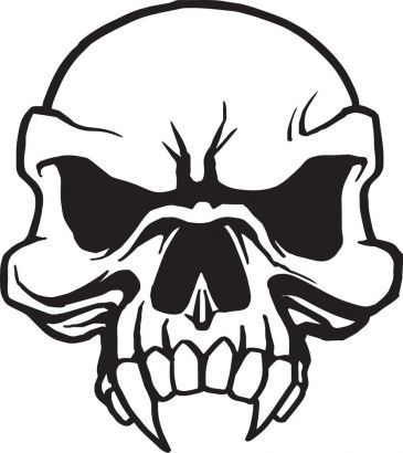 Free Skull Tattoo Designs To Print Skull Stencil Skull Tattoo Design Skulls Drawing