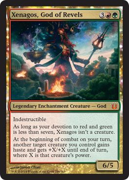Born of Gods ~ FORGESTOKER DRAGON rare Magic the Gathering card