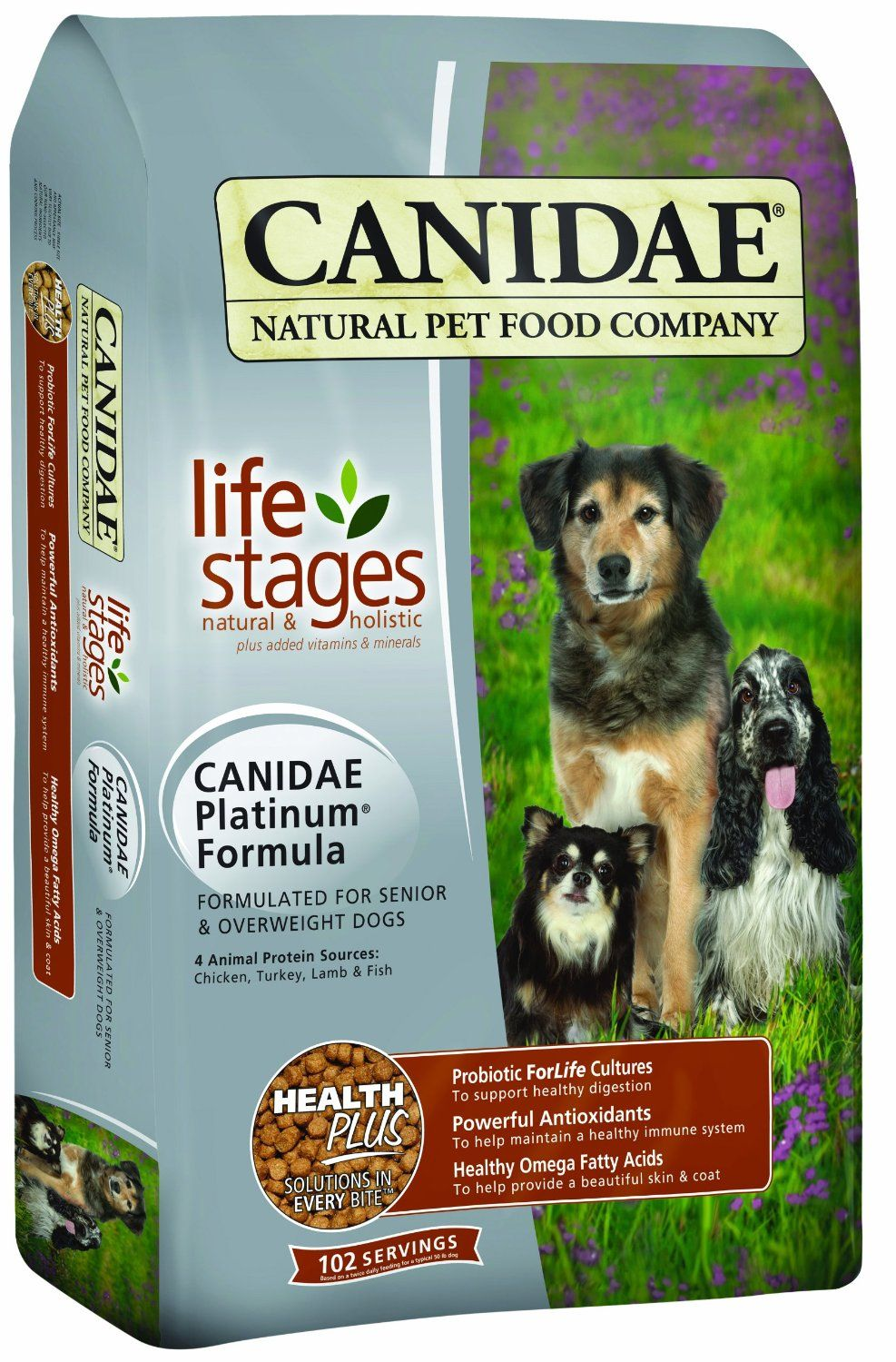1 Canidae Life Stages Dry Dog Food For Puppies Adults Seniors