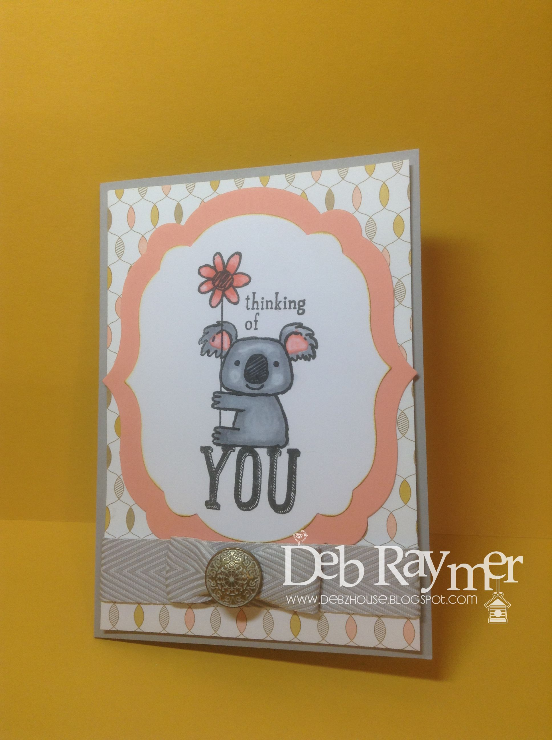 Debzhousespot Kind Koala Stamp From Stampin Up