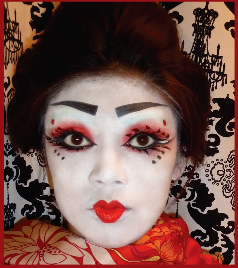 How to do geisha makeup for halloween. halloween makeup