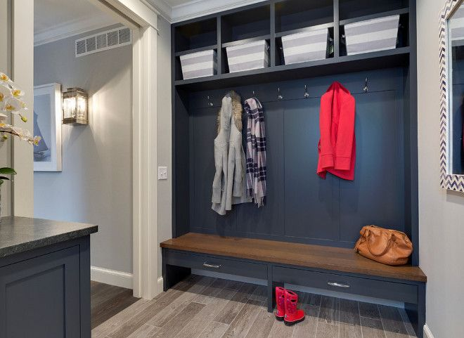 Navy Cabinet Lockers In Mudroom Mudroom With Navy Cabinets The