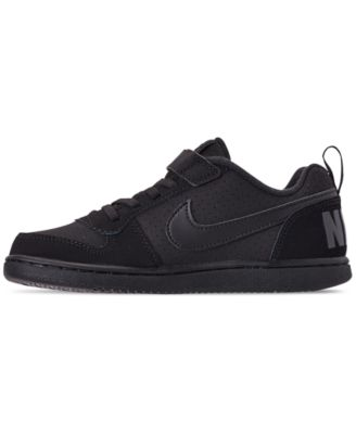 05c39e0a901e Nike Little Boys  Court Borough Low Casual Sneakers from Finish Line -  Black 1.5