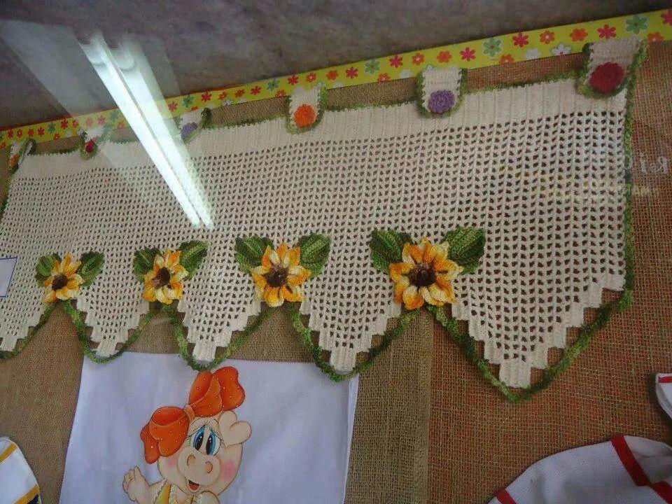Bando para cortina croche pinterest