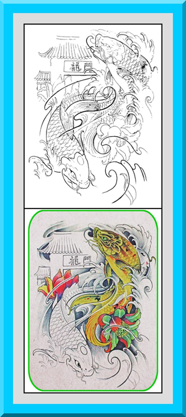 Printable Japanese Style Coloring Pages 30 High Definition Black Outlines With Colored Examples
