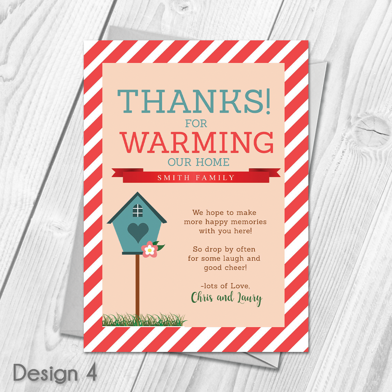 Custom Made With Your Own Personalised Text Product Specifications Choose Y House Warming Invitations Personalized Thank You Cards Personalized House Warming