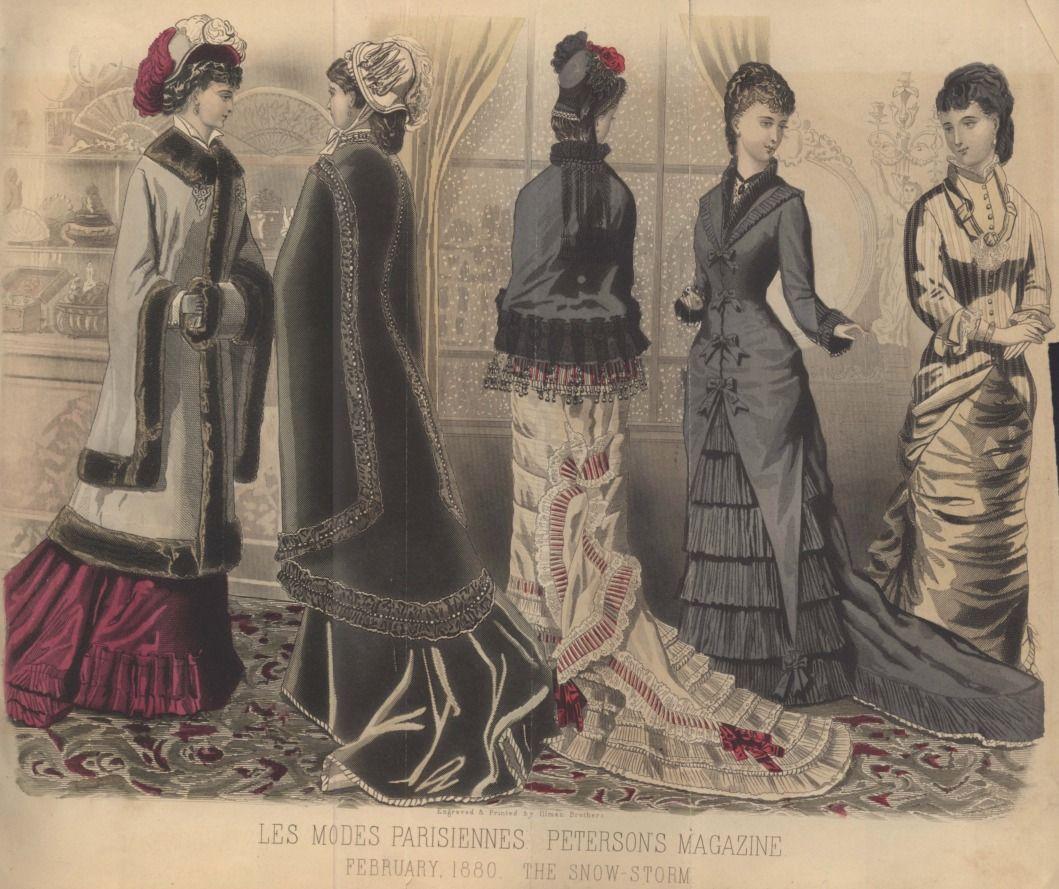 Late Victorian Era Fashion Plate - February 1880 Peterson's Magazine