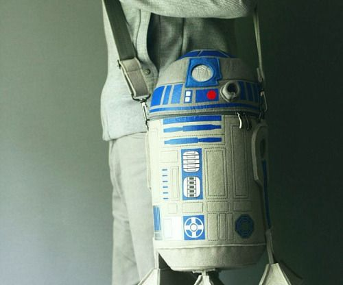 Star Wars R2-D2 Bag  Made of fine quality wool felt and decorated with prints and embroidery the bag is designed with attention to details. The bag is padded and keeps its shape well. The bag has a removable adjustable strap and inner pocket.  $185.00  Check It Out  Awesome Sht You Can Buy