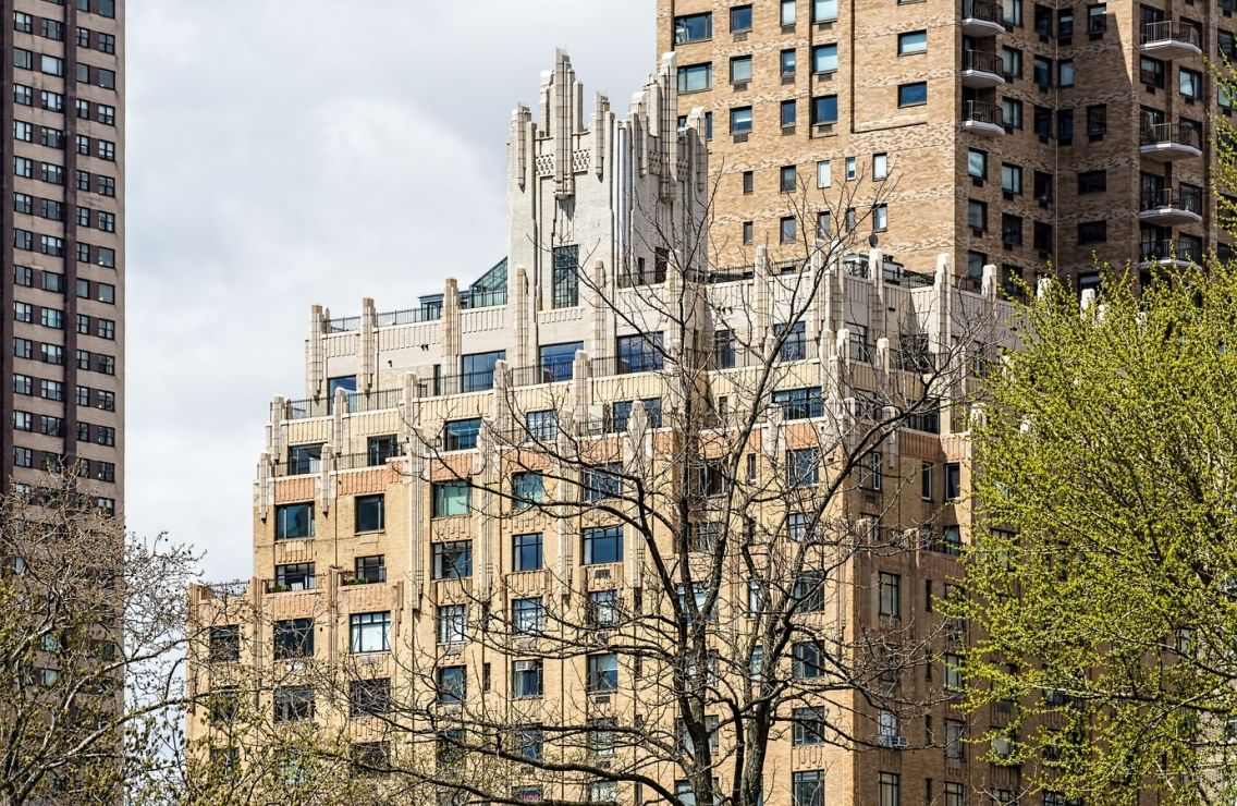 """Apartment Building Ghostbusters the top of 55 central park west (the """"ghostbusters building""""), new"""