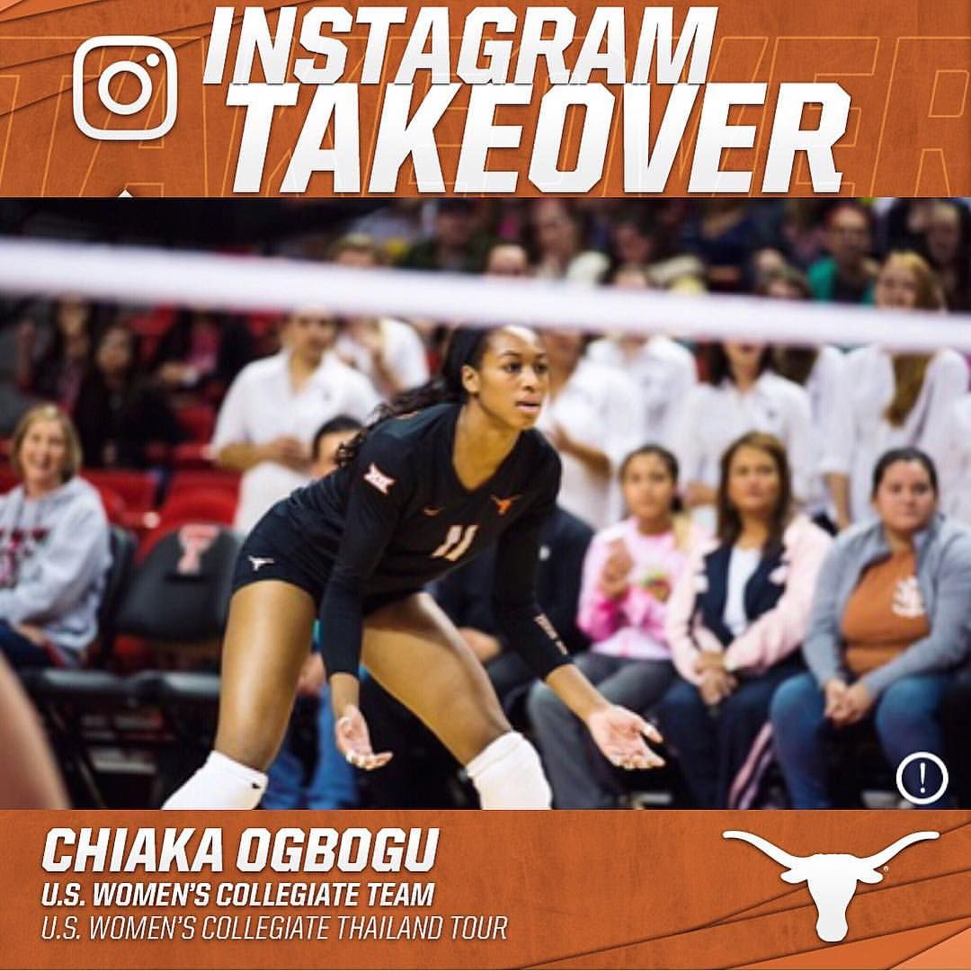Hey Texas Fans Ebony Voice I Will Be Taking Over The Texas Volleyball Instagram For The Next 24 Ish Hours Follow Along To Thailand Tours Ebony Volleyball