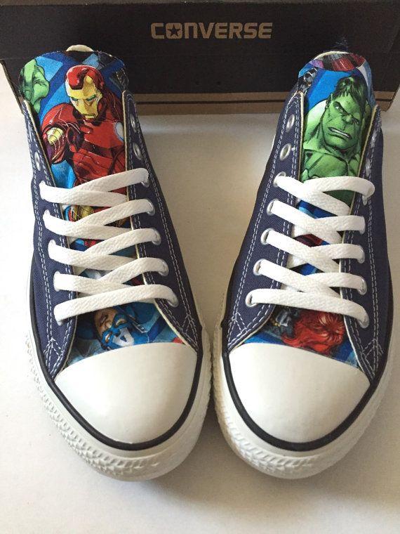 Avengers Converse Shoes Men's Women's Avengers by