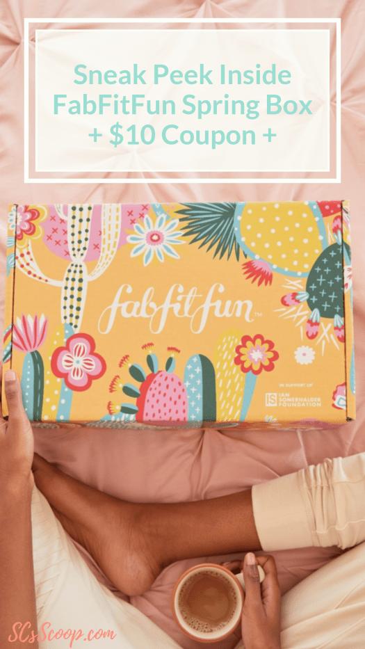 Mom Sneaks In Sons Bedroom: FabFitFun Spring Box Sneak Peak + $10 Coupon