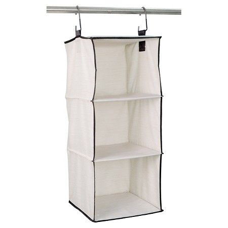Target Clothes Hangers Fair 3Shelf Hanging Closet Organizer Shell  Threshold™  Target  New Design Decoration