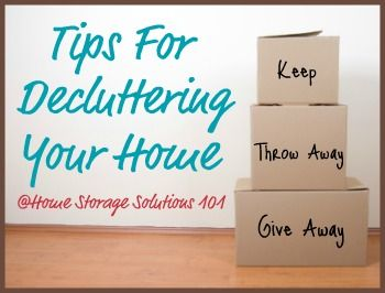 Tips for decluttering your home so you can find you path to peace. (Series from Home Storage Solutions 101)