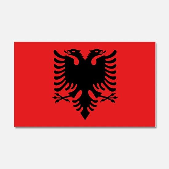 Flag of albania wall decal for