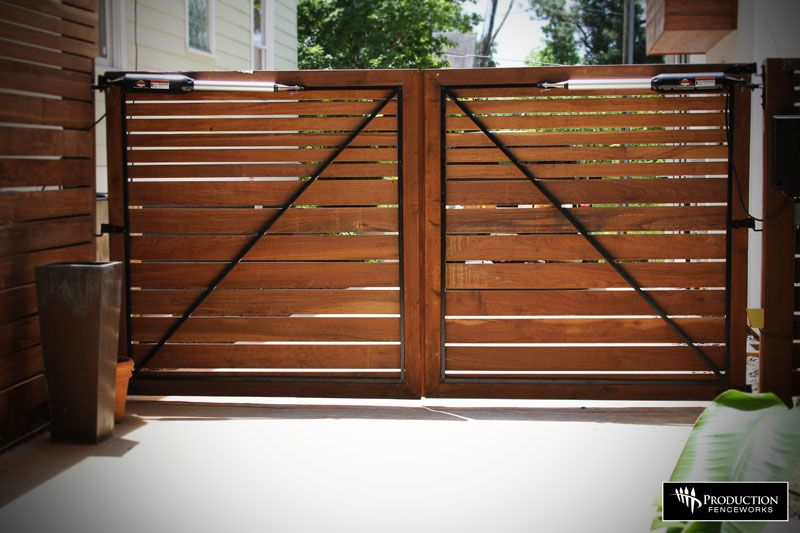 Driveway Gate Always Love Horizontal Lines Wood Gates