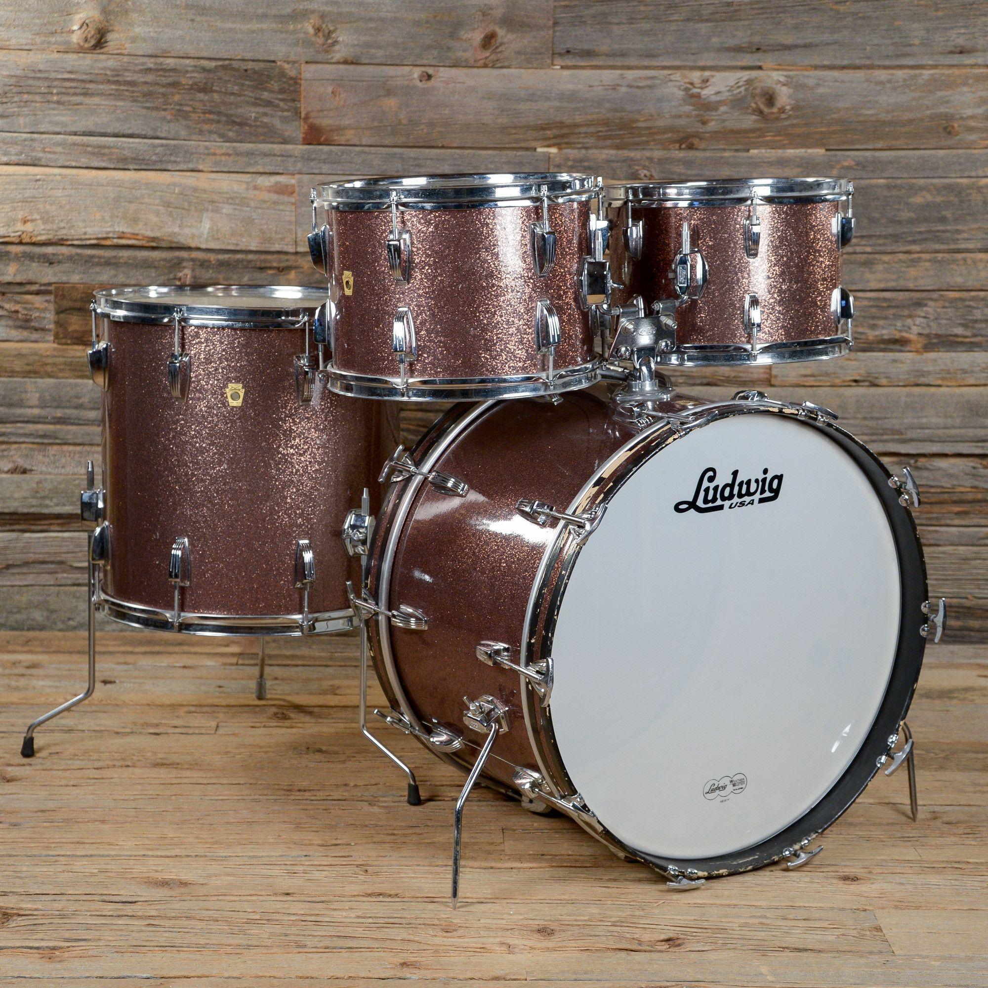 ludwig 12 13 16 22 4pc hollywood drum kit burgundy sparkle 1967 used drums pinterest drum. Black Bedroom Furniture Sets. Home Design Ideas